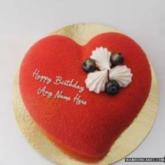 Heart Shape Cakes For Birthday Wishes With anbarasi