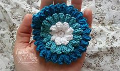 flor crochet Pop Corn - Video <3