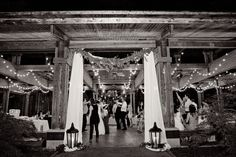 The Aldridge Gardens Pavilion draped beautifully with floral garlands and drapery by Cloth of Gold. Elena and John 9-16-14 at Aldridge Gardens. Image by SayBre Photography