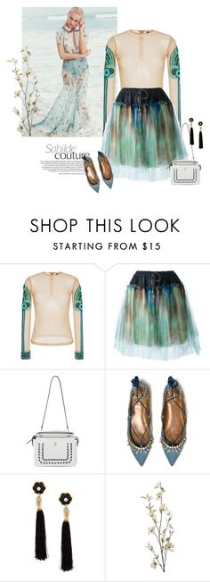 """""""Untitled #830"""" by girl-with-ideas ❤ liked on Polyvore featuring Manish Arora, Vivienne Westwood Anglomania, Fendi, Aquazzura, Lizzie Fortunato and Pier 1 Imports"""