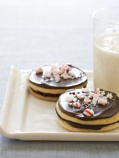 Peppermint-Chocolate Sandwich Cookies