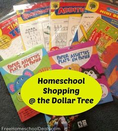 Sommer wrote in to share her homeschool shopping trip at the Dollar Tree. Here's what Sommer wanted to share: Now is the time to start looking out for deals Preschool At Home, Preschool Curriculum, Toddler Preschool, Toddler Activities, Homeschool, Preschool Learning, Home Learning, Toddler Learning, Teaching Tools