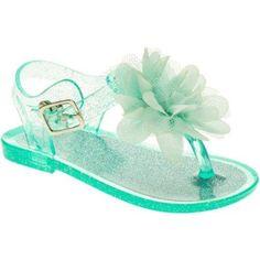 Garanimals Infant Girls Jelly Toe Post Shoe, Infant Girl's, Size: 6, Green