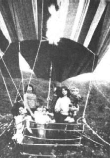 In East Berlin, two families with eight people sewed together bits of fabric, made a homemade hot-air balloon and flew to safety on the other side of the wall.