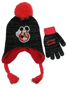 Disney Toddler Boys  Mickey Mouse Scandinavian Winter Hat and Mitten Set -  Size 2-5  4014   445a4e08bfca