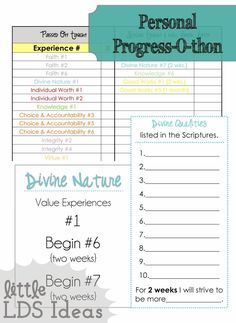 Do your YW need a bit of a 'jump-start' on their Personal Progress? This activity is great for YW who are new to Personal Progress or those that have kind of fizzled out.   While searching for Personal Progress ideas, I came across THIS idea and thought it was excellent. We decided it would be great for our YW, so I got to work planning. Instead of using this activity for mutual we used it for a Personal Progress Sleep-over....  Read more »