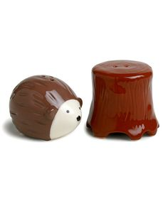 Take a look at this Chocolate Hedgehog & Tree Salt & Pepper Shakers on zulily today!