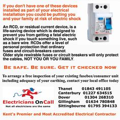 Free electrical inspection on your existing fusebox/consumer unit including the adequacy of your existing earthing. Call now
