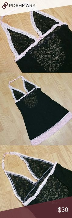 VS The Lacie Halter Gorgeous vintage inspired look, semi sheer lace surprisingly flattering. Only tried on and carefully laundered, like new condition! Victoria's Secret Intimates & Sleepwear Chemises & Slips