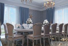Дизайн столовой зоны   в продолжение нашего классического интерьера