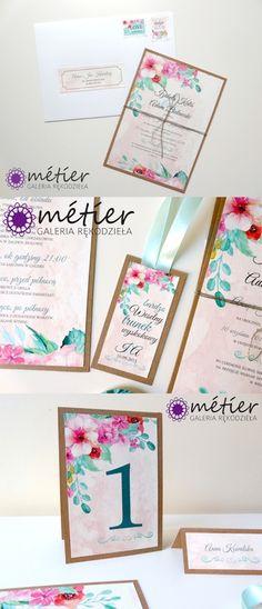 Boho zaproszenia ślubne  www.metier.pl  wedding invitations