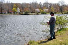 A spring day of fishing at Wooddale Park Pond in Woodcliff Lake.