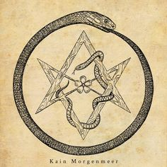 - - - dip pen, black ink on paper Ouroboros and unicursal hexagram Compass Symbol, Compass Tattoo, Real Tattoo, Dark Tattoo, Mini Tattoos, Cute Tattoos, Oroboros Tattoo, Pirate Compass, Japan Tattoo Design