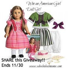 Win the American Girl Doll Marie Grace + Party Set!! Ends 11/30