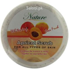Whitening Apricot Scrub Cream: Apricot is well known as a traditional astringent and the slices have long been used as a cooling agent for hot, tired skin to remove excess oil that can dull skin and clog pores. This cream refreshes your skin and leaves it vibrant and smooth.