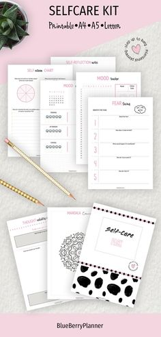 Self-care printable kit Life Binder, Life Planner, Mood Tracker, Planner Inserts, Mandala Coloring, Self Improvement, Self Care, Reflection, Printables