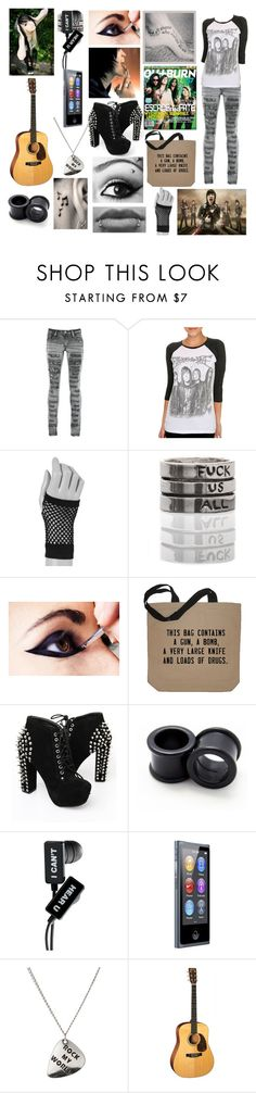 """Fangirl:Escape The Fate"" by bvb-bekka ❤ liked on Polyvore featuring PlayMe Jeans, claire's, ASOS, women's clothing, women, female, woman, misses and juniors"