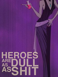 """This is a fun series of poster art created by Christopher Ables that he calls """"F@ Fairy Tales!"""" It features several Disney villains and others telling us what they really think about the stories they are in. Evil Disney, Disney Love, Disney Magic, Disney Art, Disney Pixar, Walt Disney, Disney Parody, Disney Rooms, Disney Stuff"""