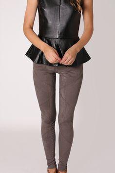 grey velour pant/tights