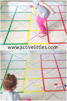 indoor activities for kids at home Here is a fun gross motor activity you can try at home! Fun and engaging for kids and it can be turned into a learning activity! Simple and easy to create for toddlers, preschoolers and school aged children. Kids Activities At Home, School Age Activities, Motor Skills Activities, Toddler Learning Activities, Montessori Activities, Infant Activities, Kids Learning, Therapy Activities, Toddler Games
