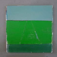 Abstract Dutch landscape painting on cardboard, Holland, Groningen, cardboard