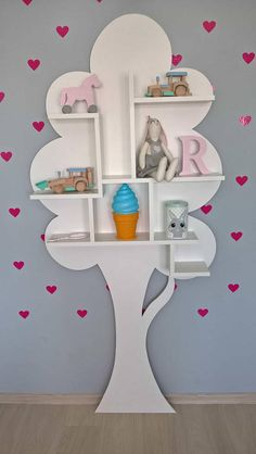 The Summer Tree Bookshelf is a sculpture, a furnishing accessory with a creative and original design which fits in every kind of baby room. Handmade from durable MDF, this statement making bookcase provides a novel focal point and will instantly enliven y Tree Bookshelf, Bookshelf Design, Bookshelves, Kids Bookcase, Diy Furniture Table, Kids Furniture, Furniture Movers, Luxury Furniture, Kids Decor