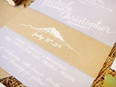 Lavender Mountain Inspired Wedding Invitations Bright Room Studio2 Chris + Rachels Lavender and Kraft Mountain Inspired Wedding Invitations