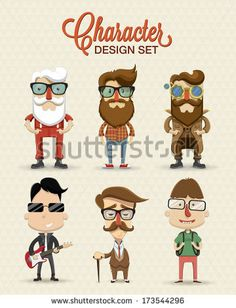 Different type of character illustration by Kovacs Tamas, via Shutterstock