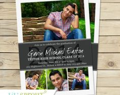 PSD shop file Elegant Graduation announcement or invitation