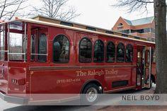 The Raleigh Trolley.  Downtown Raleigh.  Raleigh weddings.  Neil Boyd Photography.  North Carolina weddings.