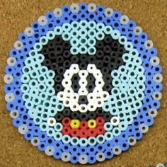 Mickey Mouse coaster perler beads by tentenyama