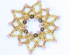 Luxurious Beaded Frozen Snowflake Christmas Decorations / Ornaments