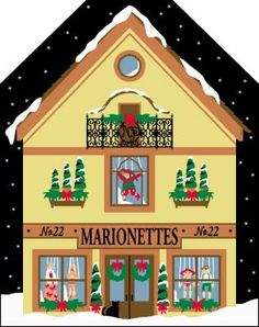 Marionettes and the crafting of them is a walk back to simpler times of entertainment. Still, there are places in the world where this fine art is still practiced! Santa's elves want to make sure that every little child who wishes for a marionette, receives one for Christmas!  This North Pole design includes GLITTERY SNOW!  Add this piece to your other North Pole Cat's Meows, or start your new collection today.