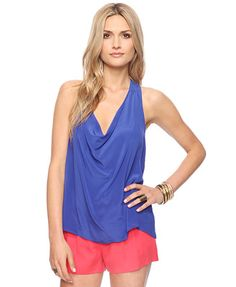 Silk cowl neck racer back tank at forever21!