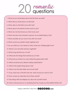 20 Romantic Questions to help while building your friendship into a relationship Date Night Questions, Fun Questions To Ask, Questions To Get To Know Someone, Dating Questions, Couple Quiz Questions, Random Questions, This Or That Questions, Truth Or Dare Questions, Would You Rather Questions