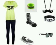 Cute nerd outfit I love it