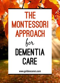 Finding activities that people living with dementia are able to participate in and enjoy can be challenging. The Montessori for dementia approach seeks to engage the senses and evoke positive emotions. It involves stimulation of the cognitive, social, and Activities For Dementia Patients, Alzheimers Activities, Elderly Activities, Senior Activities, Montessori Activities, Therapy Activities, Spring Activities, Daily Activities, Physical Activities