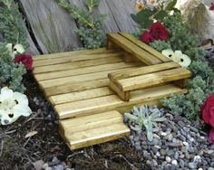Miniature wood deck