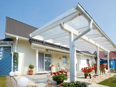 Build your own terrace roof ▷ step by step Metal Pergola, Outdoor Pergola, Pergola Plans, Outdoor Decor, Patio Roof, Backyard Patio, Garden Design, House Design, Roof Structure