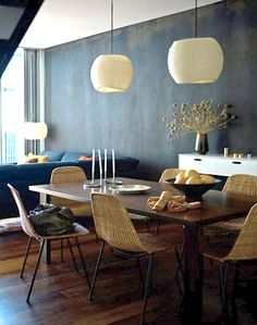 Maree Homer {eclectic vintage scandinavian modern dining rom with black walls} by recent settlers, via Flickr