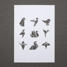 White origami bird A4 papercut. £18.00, via Etsy.  Sarah Louise Matthews