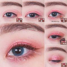Soft Eye Makeup, Pale Makeup, Korean Eye Makeup, Edgy Makeup, Asian Makeup, Eyeshadow Makeup, Makeup Cosmetics, Cosplay Makeup Tutorial, Hooded Eye Makeup Tutorial