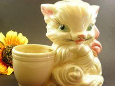 American Bisque Kitten Planter by vtgcharleys1