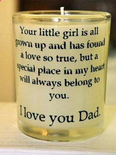 Dads and Daughters http://@Nicole Gaul I have pinned a million wedding ideas if you look on my wedding board...
