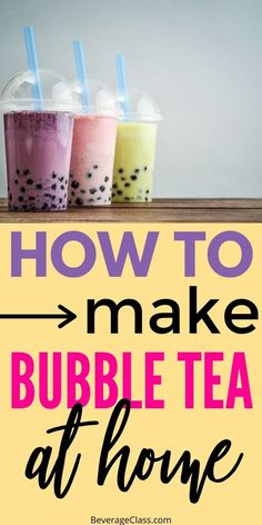 Bubble Tea: An adventure in texture and taste Boba Recipe, Taro Milk Tea Recipe, How To Make Boba, Bubble Tea Flavors, Milk Tea Recipes, Bubble Milk Tea, Taro Bubble Tea, How To Make Bubbles, Health Desserts