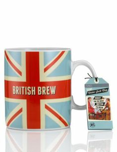 """I love this, it's huge & perfect for a cuppa :)-----ok, I want one.   hmmm,  DIY: take a plain white mug, colour with sharpies, then.....bake to set, I think?  Must check 'Misc' board for instructions pin.    Always, always; """"where there's a will there's a way."""" :)"""