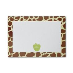 Green Apple Giraffe Teacher Post-it Notes from The Pink Schoolhouse