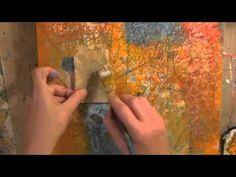 """""""Faith, Hope, Love"""" mixed media painting"""