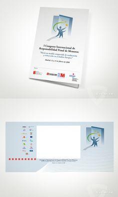 I Congreso Internacional de Responsabilidad Penal de Menores.   Comunidad de Madrid -   Tríptico / Programa y Trasera escenario  - www.versal.net • Diseño Gráfico • Identidad Visual Corporativa • Publicidad • Diseño Páginas Web • Ilustración • Graphic Design • Corporate Identity • Advertising • Web Pages • Illustration • Logo