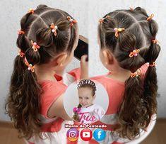 Easy Little Girl Hairstyles, Girls School Hairstyles, Girls Hairdos, Baby Girl Hairstyles, Girls Braids, Braided Hairstyles, Updo Hairstyle, Braided Updo, Prom Hairstyles